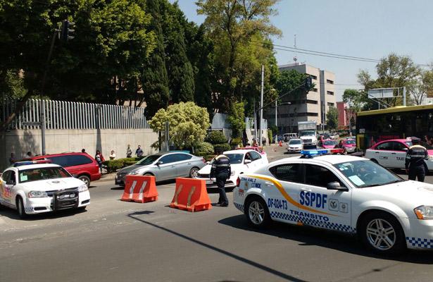 SSP-CDMX realiza corte vial sobre Paseo de la Reforma
