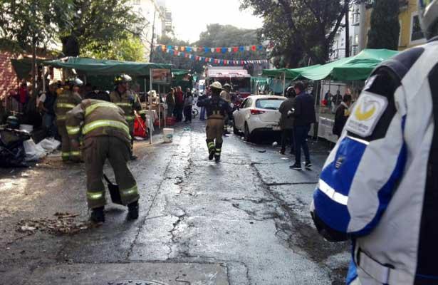 Fallece hombre que fue arrollado en tianguis de la Cuauhtémoc