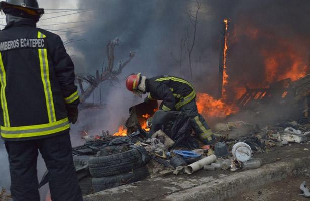 Atienden 169 incendios de pastizales en Ecatepec