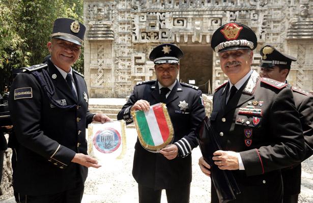 INAH y Policía Federal suman esfuerzos con Carabineros de Italia