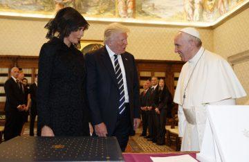 El papa Francisco recibe al Presidente Donald Trump