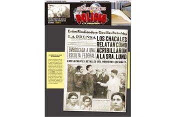 LOS CHACALES RELATAN CÓMO ACRIBILLARON A LA SEÑORA LUND