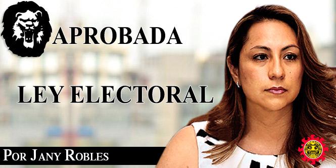 Aprobada Ley Electoral