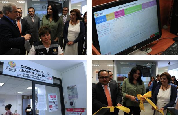 Inaugura Dione Anguiano botón anticorrupción, en Iztapalapa
