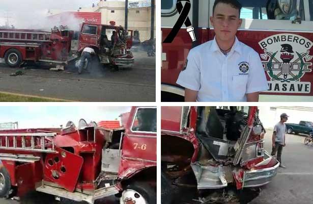 Choca carro de bomberos, dos mueren, hay 11 heridos