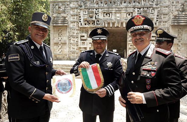 Italia, Policía Federal y el INAH, esfuerzos para protege el patrimonio cultural