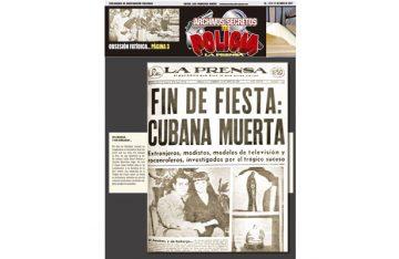 FIN DE FIESTA: CUBANA MUERTA
