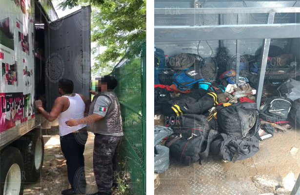 PGR rescata a 112 extranjeros, entre ellos 4 bebés, en Tabasco