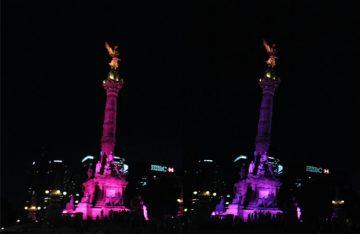 Ángel de la Independencia con colores LGBTTTI