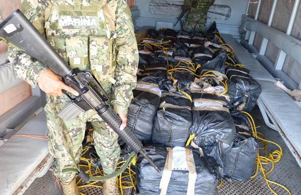 Aseguran más de una tonelada de cocaína en Chiapas