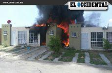 Se incendia vivienda en Jalisco