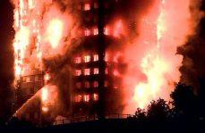 Voraz incendio consume torre de 24 pisos en Londres