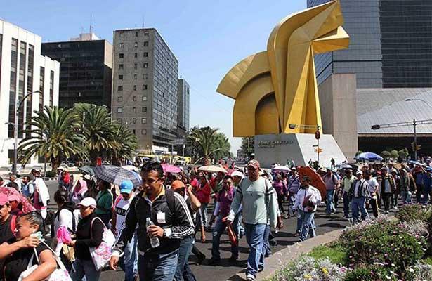 Marchas pondrán en jaque el tránsito vehicular en la CDMX