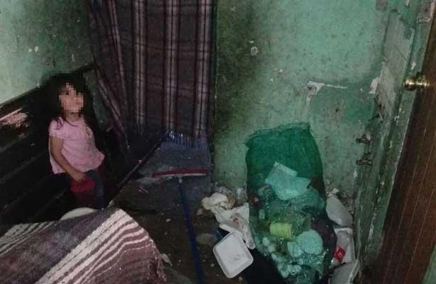 Cuatro hermanos en condiciones deplorables y desnutrición