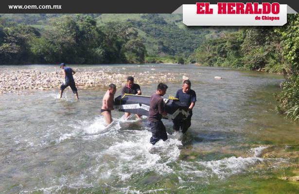 Hallan cadáver en río de Chiapas