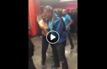 Solucionan sus problemas a golpes en estación del Metro Pino Suárez