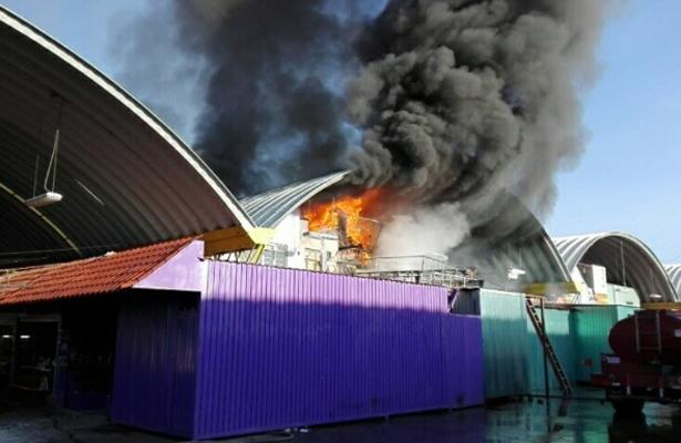 Incendio en Central de Abastos