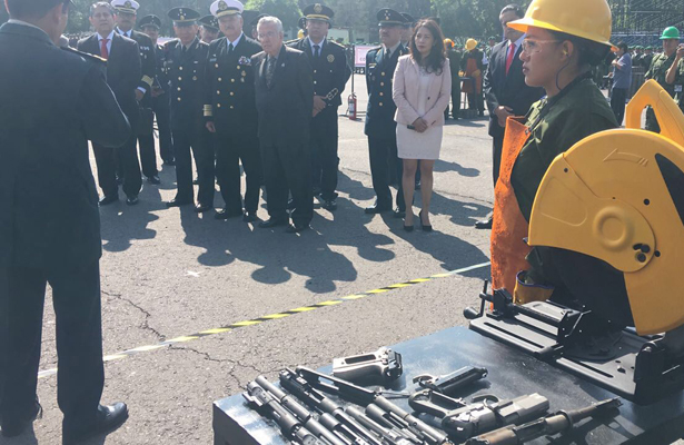 SEDENA realiza Ceremonia de Destrucción de Armamento