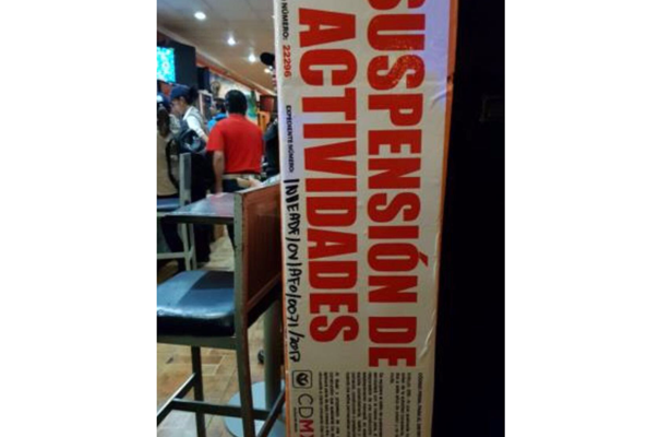 Suspenden actividades en nueve establecimientos mercantiles