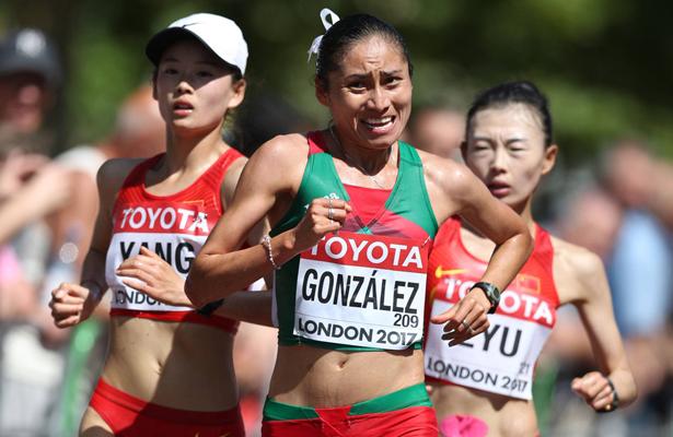 Lupita Gonzáles gana plata en Mundial de Atletismo