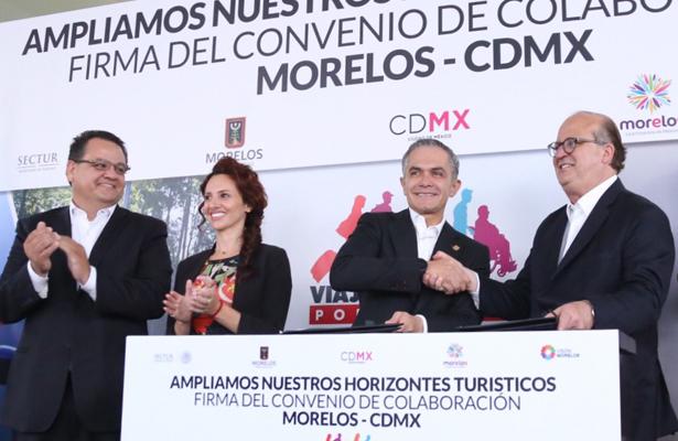 Mancera y Graco firman convenio para fortalecer el turismo
