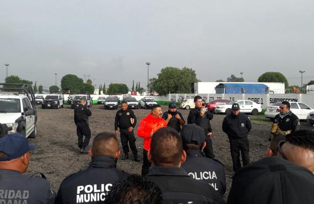 Policía de Coacalco realiza paro de labores