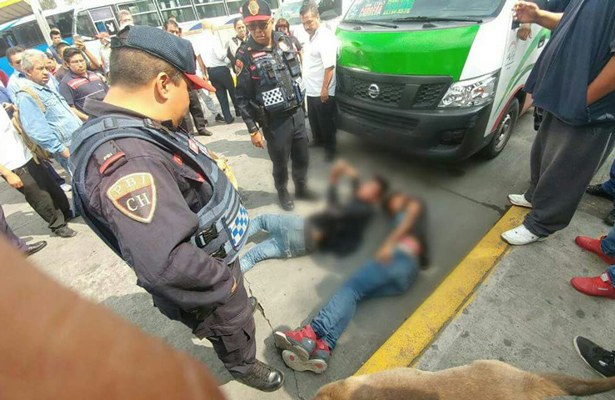 Pasajeros frustran asalto en paradero de Martín Carrera