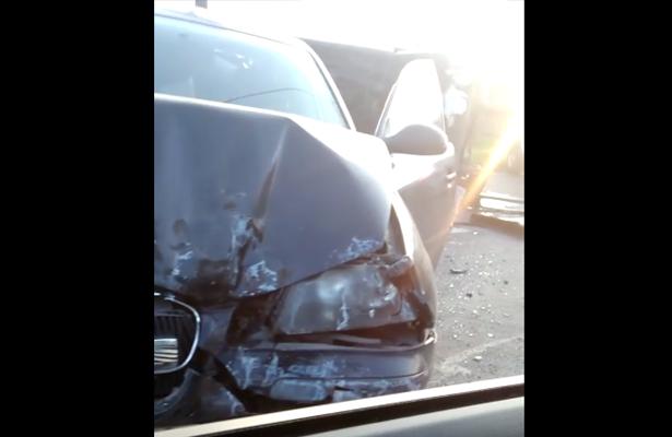 Tremendo choque en autopista Texcoco-Lechería