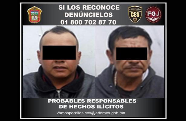 Caen dos sospechosos por robo con violencia en Neza