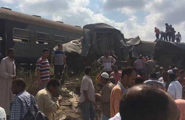 Encontronazo de trenes en Egipto deja al menos 21 muertos