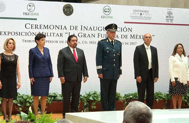 """Inauguran Exposición Militar """"La Gran Fuerza de México"""""""