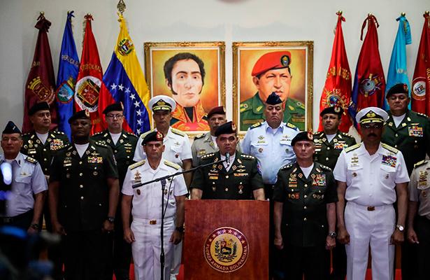 Militares defienden a Maduro por sanciones de EUA