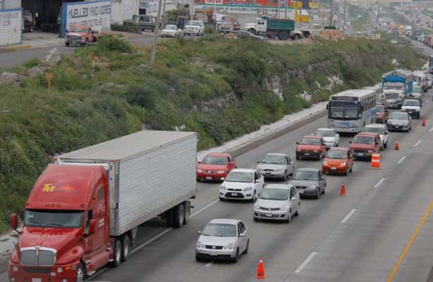 Accidente cierran carretera de la México- Querétaro