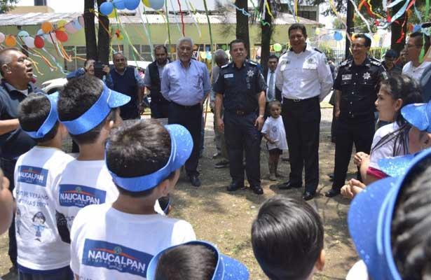 Cierran curso de verano de hijos de policías en Naucalpan