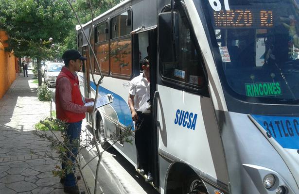 SEMOT realiza operativo de supervisión y vigilancia en el transporte público