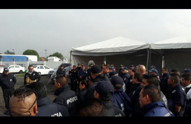 En paro policías de Coacalco