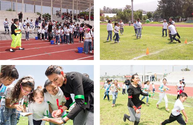 Conviven funcionarios municipales con niños beneficiarios del programa Metrum