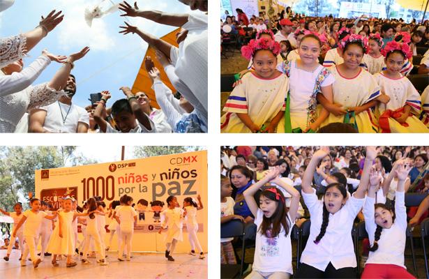 Exponen niñas y niños de Tláhuac acciones por la paz
