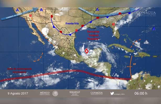 Franklin toma fuerza para próximo impacto a costas mexicanas