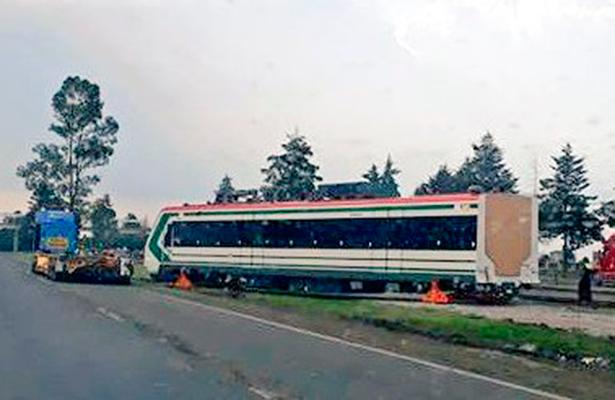 Falsa la caída de un vagón del tren interurbano México-Toluca