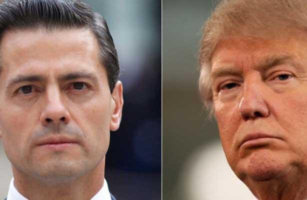 Deja de decir que México no pagará el muro: Trump a EPN