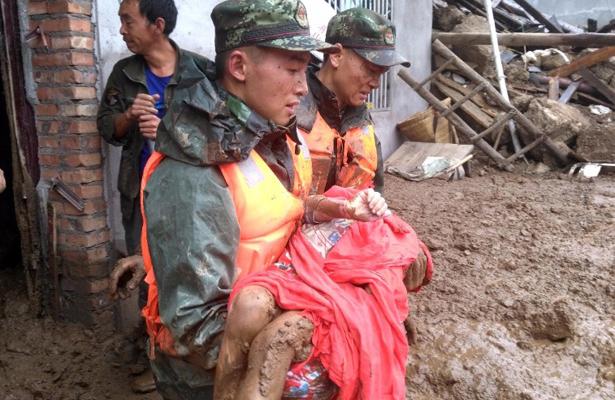 Deslizamiento de tierras deja 24 muertos en China