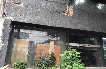 Edificio a punto del colapso tras el sismo