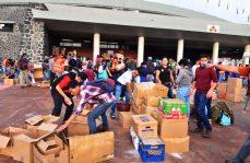 Cien toneladas de víveres ha recaudado la UNAM
