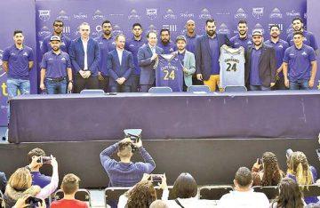 Presentan al equipo de baloncesto, los capitanes de la CDMX