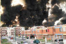 Explosión e incendio pone en alerta a autoridades en Silao