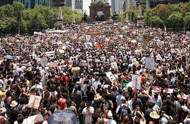 Protestan en CDMX para pedir demoliciones