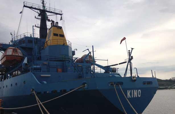 Llega buque con 117.5 toneladas de ayuda humanitaria a Oaxaca