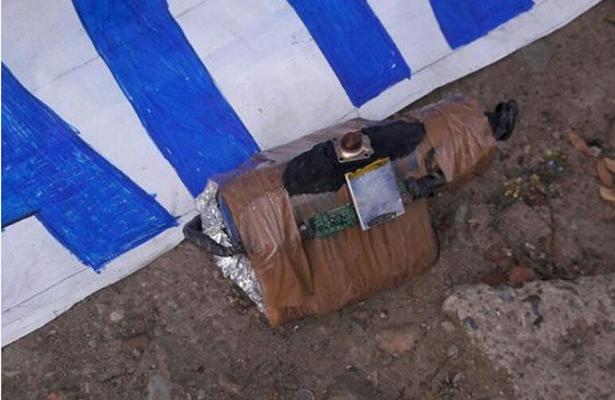 Descubren bomba cerca de escuela