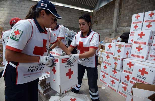 Entrega Cruz Roja Edomex ayuda humanitaria a damnificados